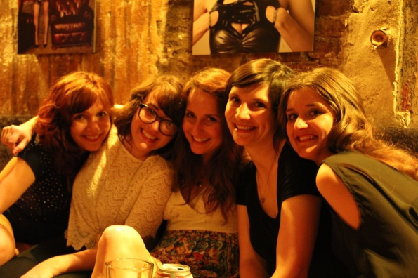 A few of the Pin-Ups hanging out in Arlene's after their show