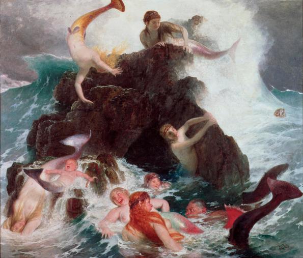 Mermaids At Play by Arnold Bocklin