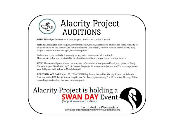 SWANDay Auditions 2014 web